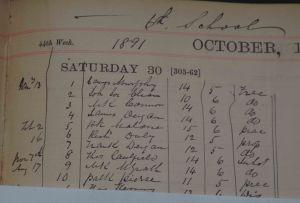School register showing Padraig Pearse