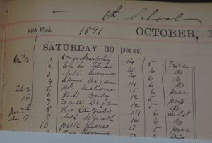 School register showing Padraig Pearse