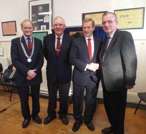 PPU President, Secretary, An Taoiseach and Bro Garvey