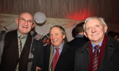 Eddie Staunton, Paul Butler and Dermot Quigley catch up on old times