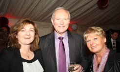 Past Principal Ken Duggan with the ladies
