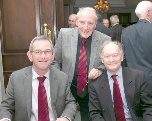 Incoming President Dan Ferrari with John Murray and John Cullen